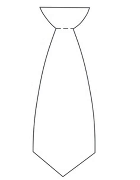 template of s tie necktie template printable clipart best