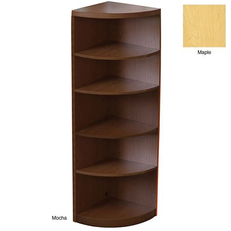 small corner bookshelves mayline aberdeen bookcase