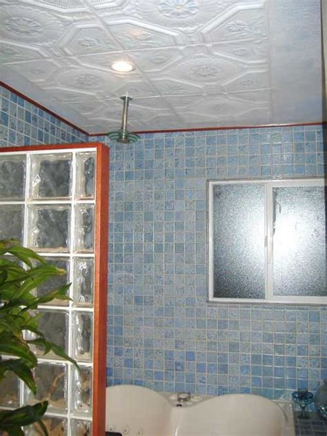 Tin Ceiling In Bathroom by Bathroom Ceilings Eclectic Bathroom Other Metro By