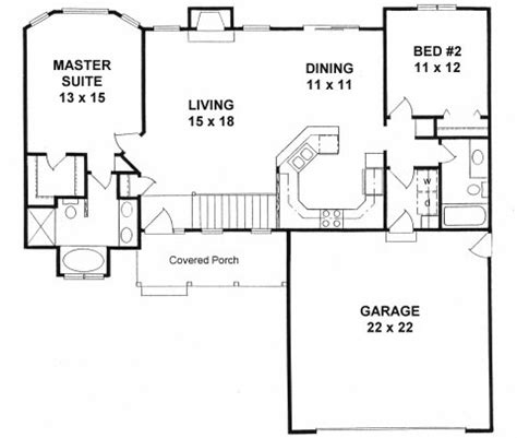 2 bedroom ranch house plans plan 1179 ranch style small house plan 2 bedroom split