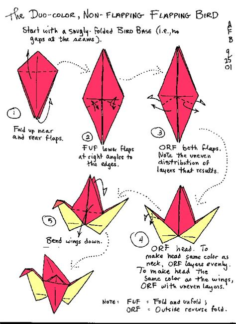 How To Do A Origami Crane - origami flapping crane step by step f f info 2017