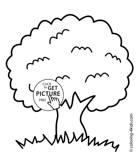 Tree Coloring Page Nature Coloring Page For Kids Black And White Tree Coloring Page