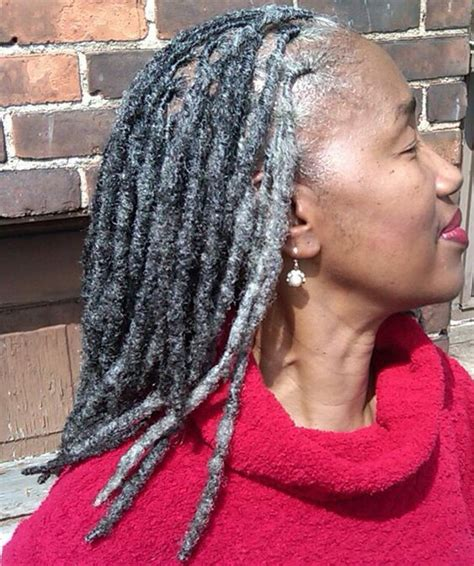 dreadlocks with gray hair beautiful silver hair and grey on pinterest