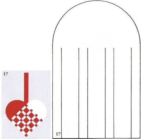 woven paper heart cutting pattern 2 christmas paper