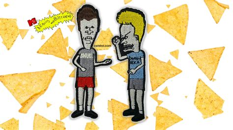 Beavis And Butthead Backpatch beavis and butthead embroidered iron on patch set