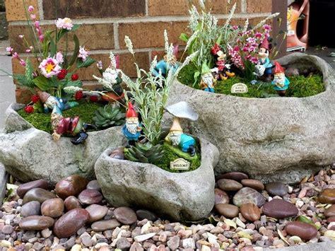 cute garden gnomes my gnome garden super cute fairy gardens pinterest