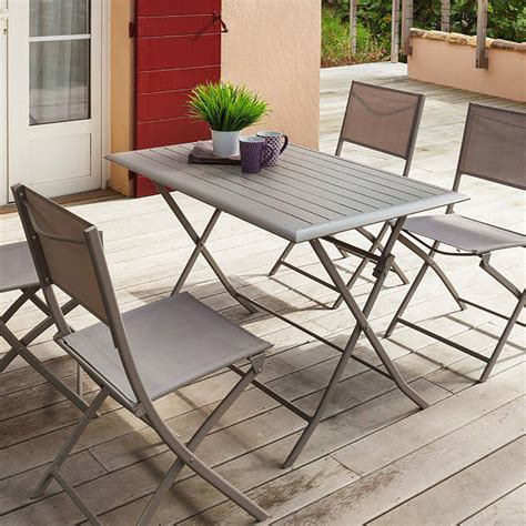 Table Et Chaise Balcon by Table De Balcon Pliante Rectangulaire Azua Taupe Hesp 233 Ride