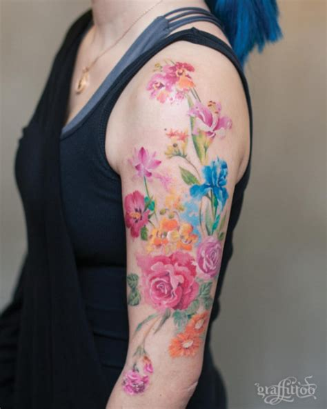 flower collage tattoo 101 girly tattoos you ll wish you had this summer