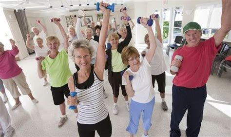 elderly exercising   young gym chain