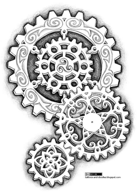 gear tattoo designs tattoos and doodles steunk like gears