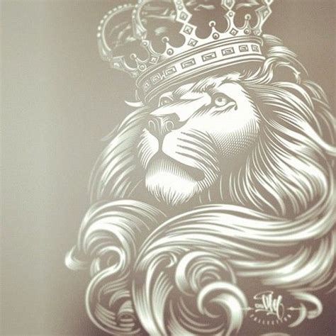 lion with crown tattoo my the and on