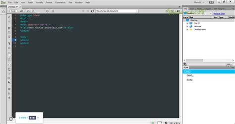 membuat web sederhana dengan adobe dreamweaver cs5 adobe dreamweaver cc 2015 16 1 0 full terbaru portal