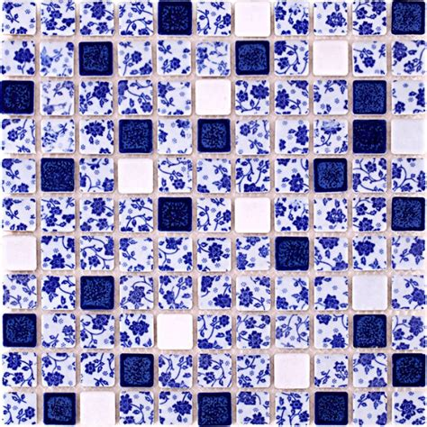 blue and white tile backsplash blue and white tile glossy porcelain mosaic bathroom tiles