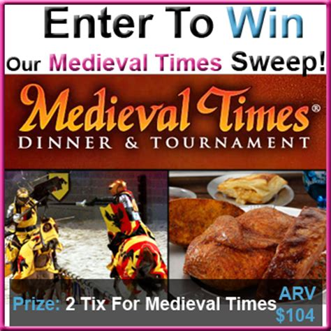 Medieval Times Gift Card - enter to win 2 tickets to a medieval times dinner show in atlanta ga ends 04 20 12