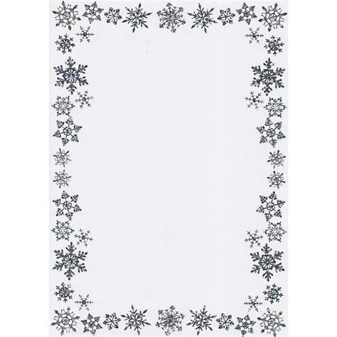 printable a5 writing paper printable christmas border writing paper a5 snowflake