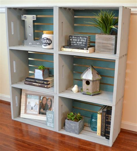 bookshelves diy diy crate bookcase latta creations