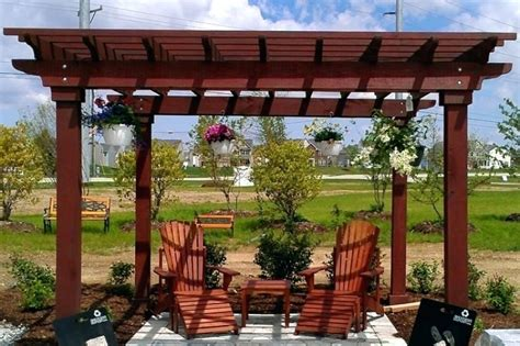 diy build patio pergola at home lowes all home design