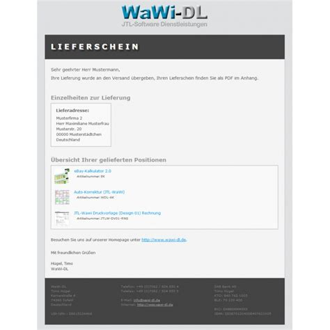 Html Design Vorlagen Jtl Wawi Email Vorlagen Html Design 01 Wawi Dl 10 00