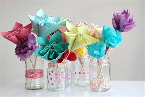 Make A Bouquet Of Flowers With Paper - make a bouquet of beautiful paper flowers for s day