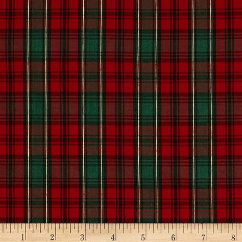 tartan plaid imperial tartan golden anniversary plaid green discount designer fabric fabric