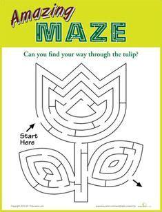 Maze Bentuk belajar baca huruf kata bahasa inggris anak tk sd