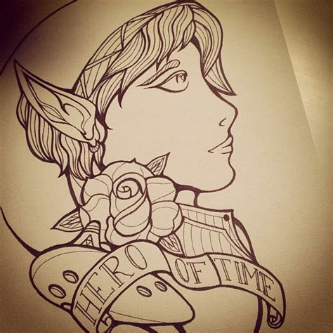 traditional link tattoo by benzo87 on deviantart