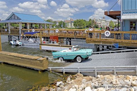 the boat house first look amphicar tours at the boathouse in disney world s disney springs and