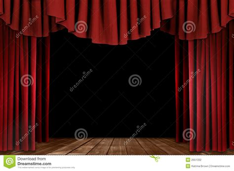 Red Stage Curtains Drawing Pixsharkcom Images