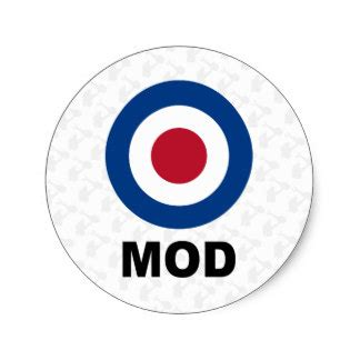 mod target sticker sold at europosters mod target stickers labels zazzle uk