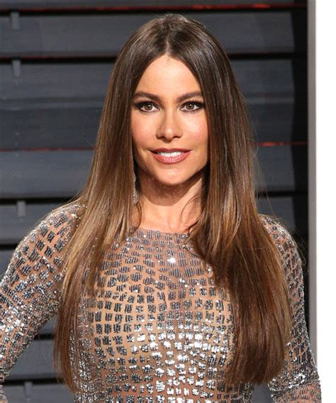 sofia vergara long straight formal hairstyle medium