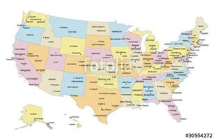 quot usa map with capital cities major cities labels quot stock