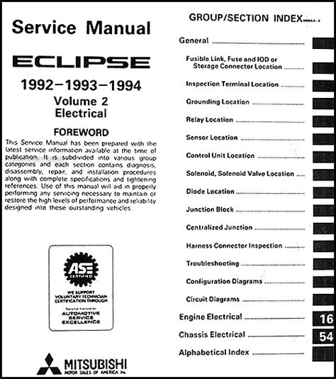 1992 1994 mitsubishi eclipse repair shop manual set original