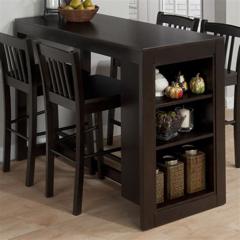 bar top kitchen tables jofran 810 48 maryland counter height storage dining table