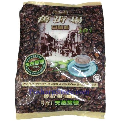 Kopi Oldtown kopi town 3 in 1 instant white coffee with sugar