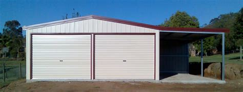 Garage Prebuilt by Custom Built Steel Garages Brisbane Pre Fabricated Or Kits