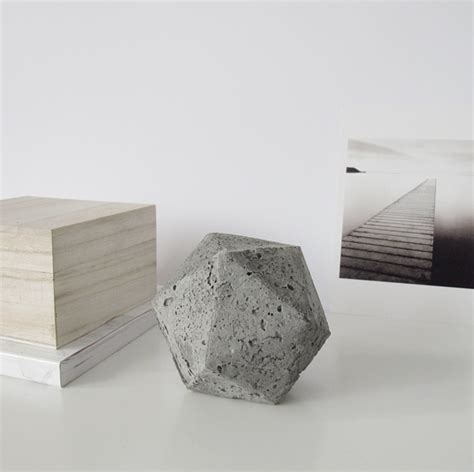 Make A Paper Weight - diy project geometric concrete paperweight design sponge