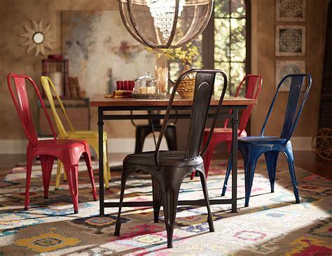 Amara Blus amara blue metal chair set of 4 from homelegance 5034bues