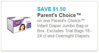 printable parent s choice diaper coupons walmart coupon deals parents choice diapers just 4 47