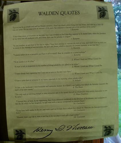 Walden Quotes Poster Henry David Thoreau