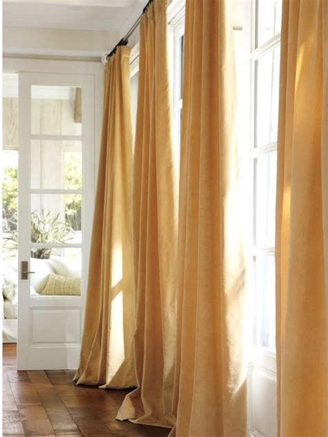 velvet drapes pottery barn velvet drape wheat modern curtains by pottery barn