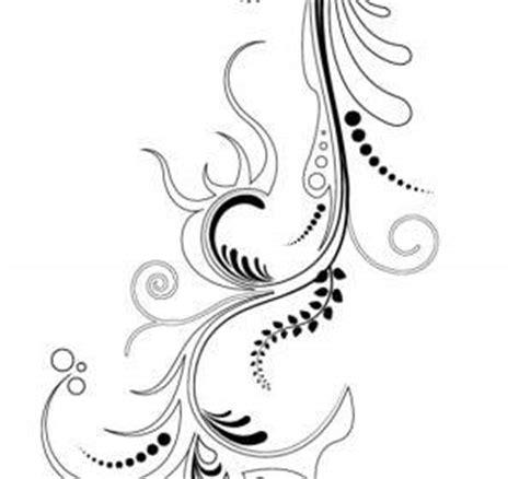 desain ornamen bunga hiasan bunga elemen vektor grafis vector floral vektor