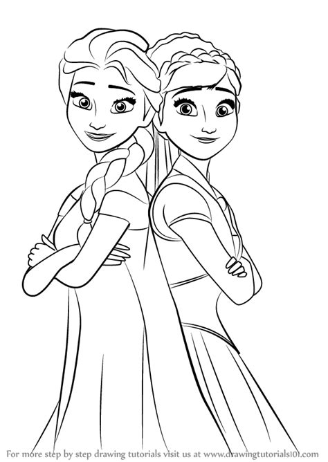 doodle draw how to draw elsa learn how to draw elsa and from frozen fever frozen