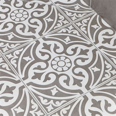 Kingsbridge Grey Patterned Floor Tiles   331 x 331mm