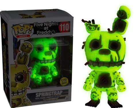 Funko Five At Freedyos Springtrap Glow In The funko pop figure five nights at freddy s