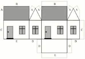 house patterns cardboard house pattern