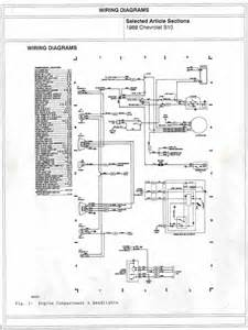1988 chevrolet s10 engine compartment and headlights wiring diagrams all about wiring diagrams