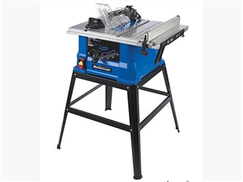 brand new mastercraft 15a table saw with stand 10 in