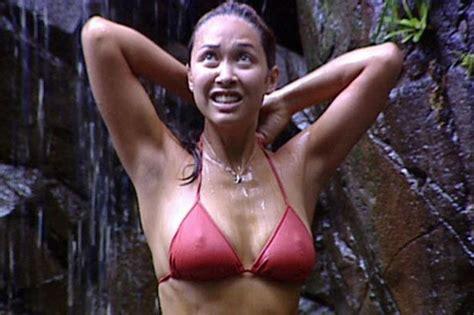 celeb bush pics i m a celebrity best bits video of sexiest shower scenes