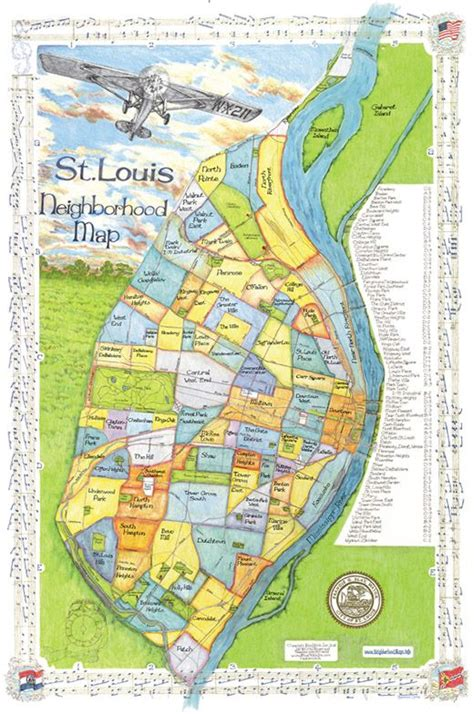 map of st louis st louis neighborhood map decorating saints