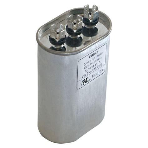 run capacitor 440 vac eastman 30 5 mfd 440 vac oval dual run capacitor 92040 the home depot